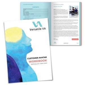 Customer Avatar Workbook by Deb Ricketts at Versatile VA