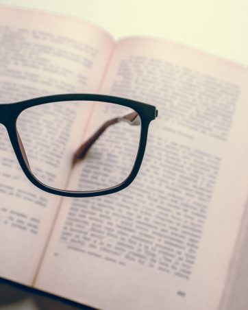 Glasses on book_visibility